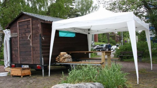 peräkärrysauna vuokraus Helsinki.